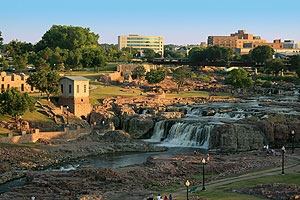 The Falls of the Big Sioux River